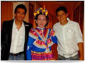 Con Pavel Pardo y Ricardo Osorio